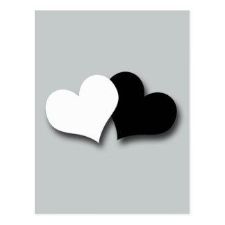 Två hjärtor vykort