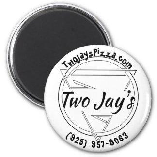 Två Jays Pizza klämmer fast Magnet