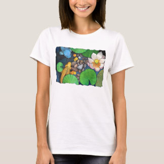 """Två Koi och lotusblomma"" vid Agni Kama T Shirts"