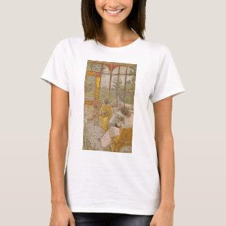 Två kvinnor som broderar på en Veranda T-shirt