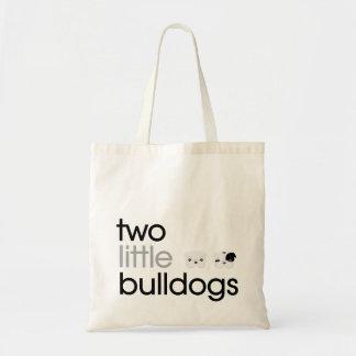 """""""Två lite bulldogg hänger lös toto Budget Tygkasse"""