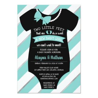 Två lite fot baby showerinbjudan 12,7 x 17,8 cm inbjudningskort