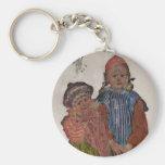 Två lite systrar 1906 nyckel ringar
