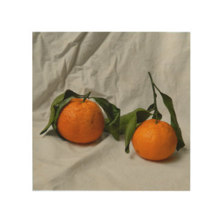 Två mandarins trätavla