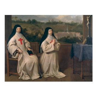 Två nunnor vykort
