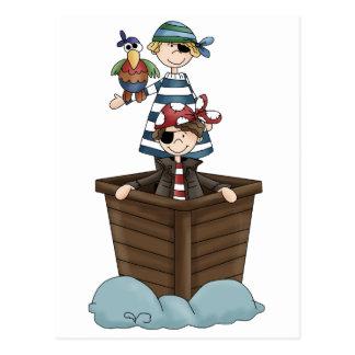 Två pirater vykort