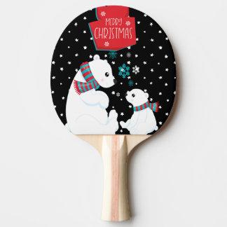 Två polara björngod jul pingisracket