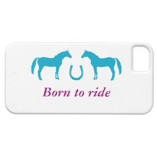 Två ponnyer och en hästsko iPhone 5 Case-Mate skal