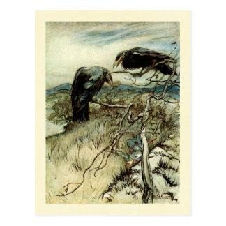 Två Ravens Vykort