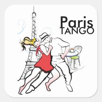 Två Tangueros i Paris Fyrkantigt Klistermärke