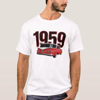 Två-tona den röd & vitChevrolet herrgårdsvagnen T-shirt