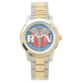 Två-Tona klockan, guld, och silver tonar Armbandsur