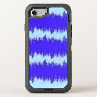 Två tonar blått pulserar OtterBox defender iPhone 7 skal