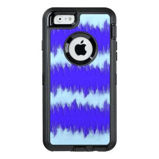 Två tonar blått pulserar OtterBox defender iPhone skal