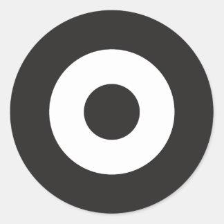 Två tonar modrundaklistermärken runt klistermärke