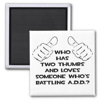Två tum och älskar någon. TILLFOGA Magnet För Kylskåp