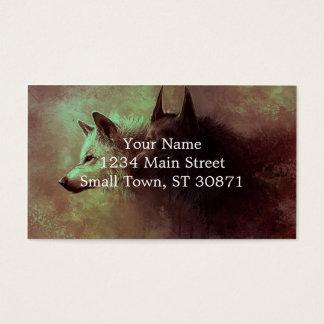 två varger - målningvarg visitkort