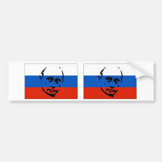 TVÅ Vladimir Putin/rysk flagga Bildekal