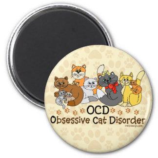 Tvångsmässig kattoordning för OCD Kylskåps Magneter
