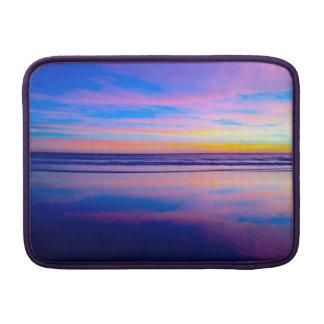 Tvåsidiga solnedgångsnilleblixtar MacBook air sleeve