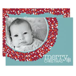 tvåsidigt fotokort för helgdag 5x7 12,7 x 17,8 cm inbjudningskort