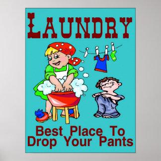 Tvätt: Bäst ställe som tappar byxor Poster