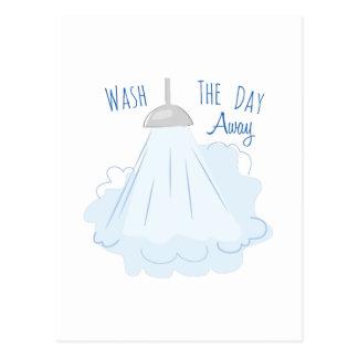 Tvätta den Away dagen Vykort
