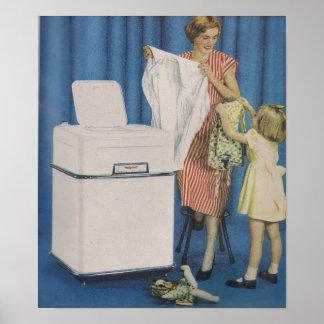 Tvätta maskinaffischen poster