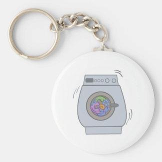 Tvätta maskinen rund nyckelring