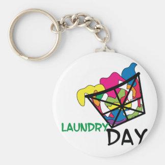 Tvättdag Rund Nyckelring