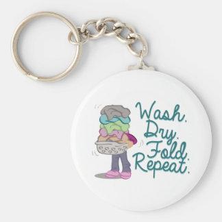 Tvätten tvättar rund nyckelring