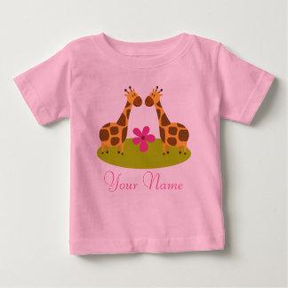 Tvilling- giraffpersonligflickor tshirts