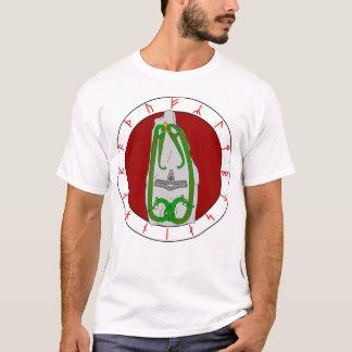 Tvilling- ormrunsten - skjortan beklär design tee shirt