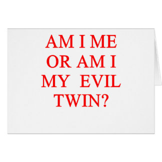 tvilling- skämt för ondska hälsningskort