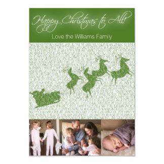 """""""Twas natten för jul"""" fotokort 12,7 X 17,8 Cm Inbjudningskort"""