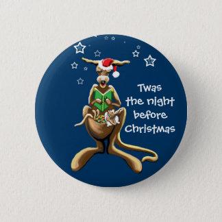 Twas natten för jul standard knapp rund 5.7 cm