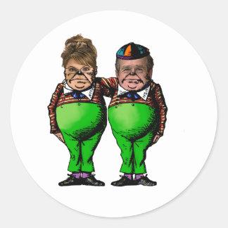 Tweedles Palin & Bush Runt Klistermärke