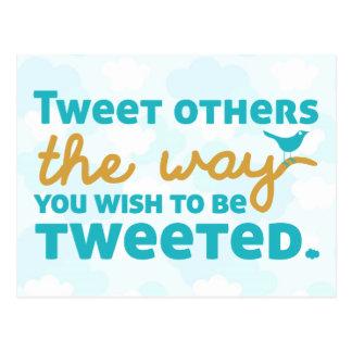 Tweeten andra långt önskar du att tweeteds vykort