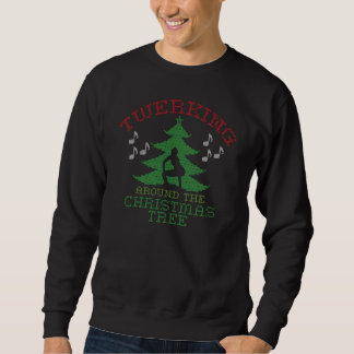 Twerkin runt om julgrantröjan sweatshirt