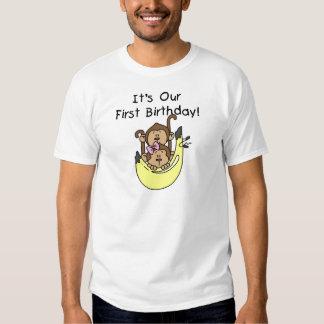 Twillingar - 1st födelsedag för pojke- och tröjor