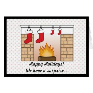 Twillingar för julkortgravidmeddelande!! hälsningskort