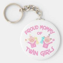 Twins nyckelring för flickor för mammamors dag tvi