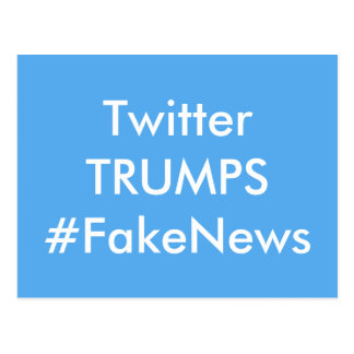 Twittertrumfer fejkar nyheternavykortet vykort