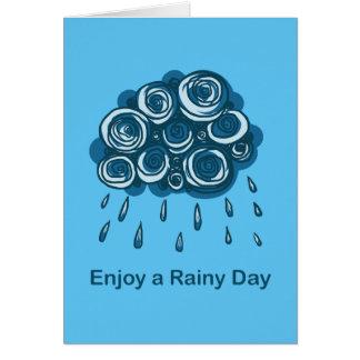 Tyck om en regnig dag hälsningskort