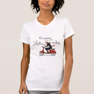 Tyck om liv och rida vespaT-tröja T-shirt