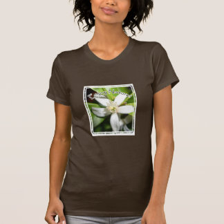 Tyck om naturen - orange blomma t-shirt