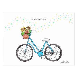 Tyck om ritten för cykeln för rittcykelvykortet vykort