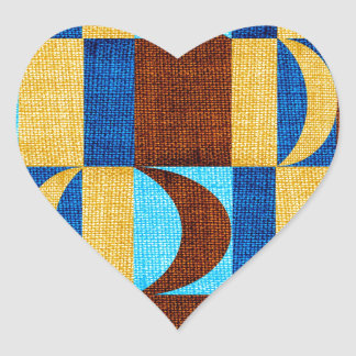 tyg #2 hjärtformat klistermärke