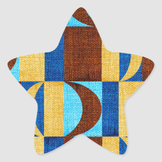 tyg #2 stjärnformat klistermärke