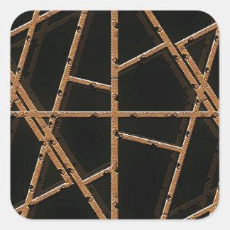 Tyg binder bakgrund fyrkantigt klistermärke
